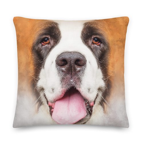 22×22 Saint Bernard Dog Premium Pillow by Design Express