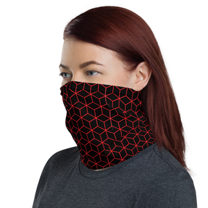 Diamond Red Black Pattern Neck Gaiter Masks by Design Express