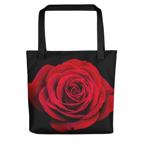Default Title Charming Red Rose Tote Bag by Design Express