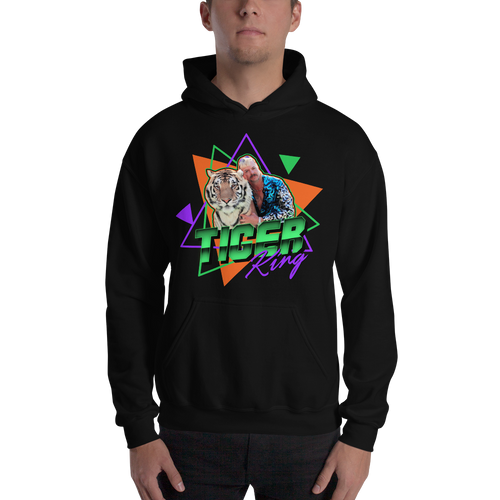 Black / S Tiger King Unisex Hoodie by Design Express
