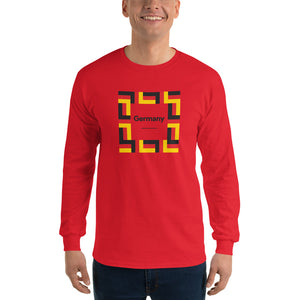 "Red / S Germany ""Mosaic"" Long Sleeve T-Shirt by Design Express"