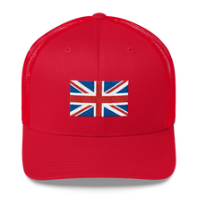 "Red United Kingdom Flag ""Solo"" Trucker Cap by Design Express"