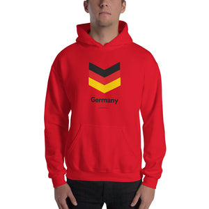 "Red / S Germany ""Chevron"" Hooded Sweatshirt by Design Express"