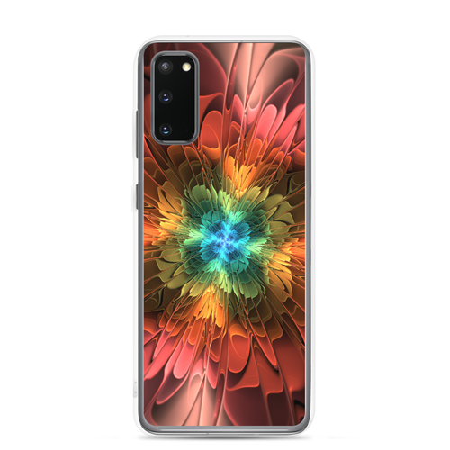 Samsung Galaxy S20 Abstract Flower 03 Samsung Case by Design Express