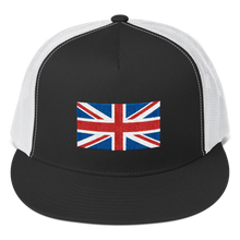 "Black/ White United Kingdom Flag ""Solo"" Trucker Cap by Design Express"