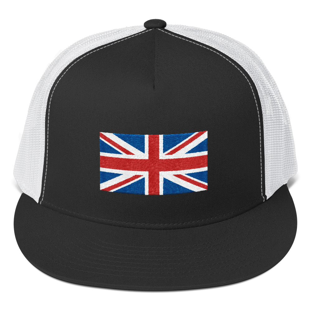 Black/ White United Kingdom Flag