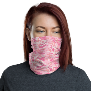 Default Title Baby Pink Camo Neck Gaiter Masks by Design Express