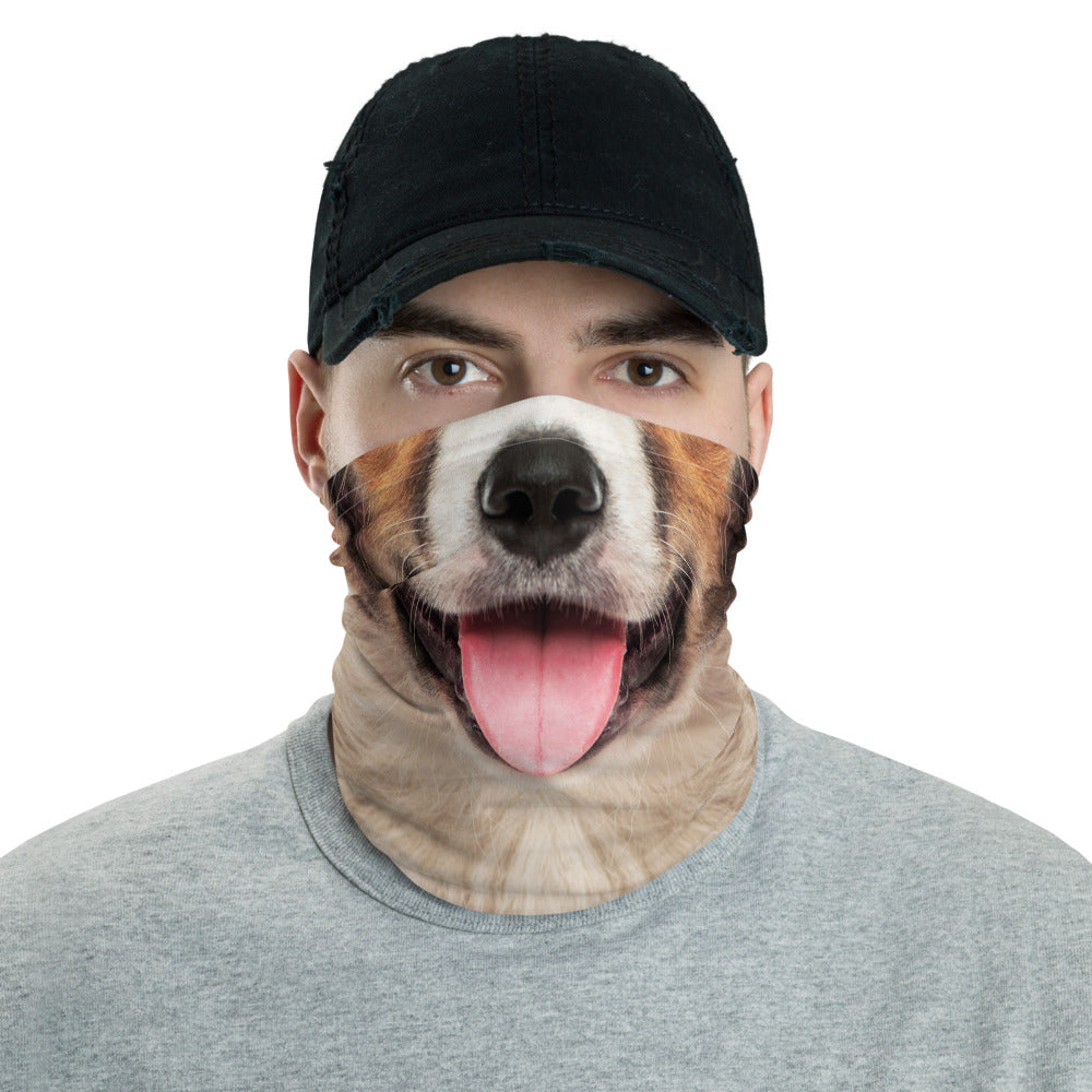 Default Title Border Collie Dog with Tongue Neck Gaiter Masks by Design Express