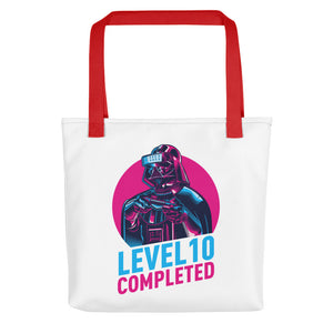 Red Darth Vader Level 10 Completed Tote bag Totes by Design Express