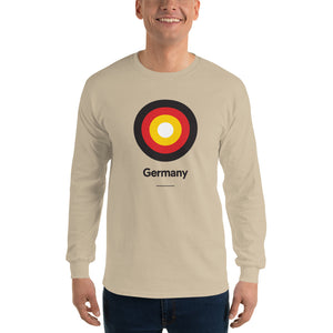 "Sand / S Germany ""Target"" Long Sleeve T-Shirt by Design Express"