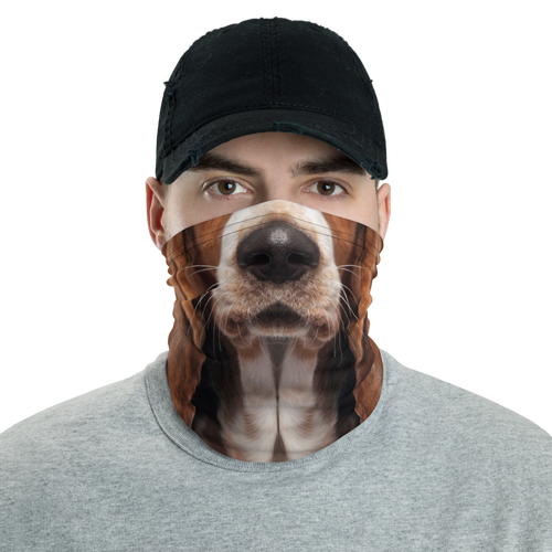 Default Title Basset Hound Dog Neck Gaiter Masks by Design Express