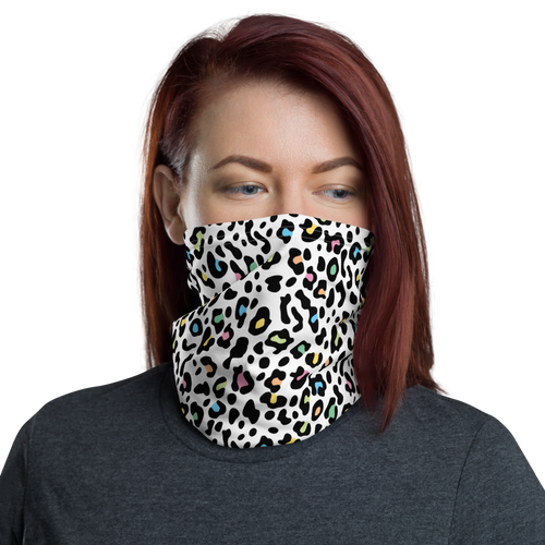 Default Title Color Leopard Print Neck Gaiter Masks by Design Express