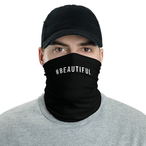 Default Title #BEAUTIFUL Hashtag Neck Gaiter Masks by Design Express