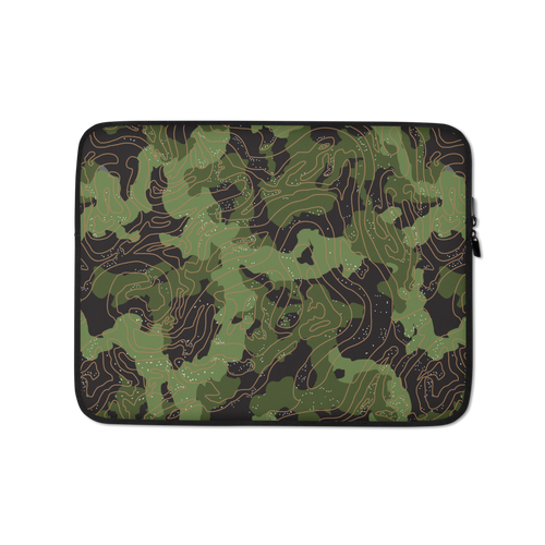 13 in Green Camoline Laptop Sleeve by Design Express