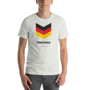"Ash / S Germany ""Chevron"" Unisex T-Shirt by Design Express"