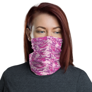 Default Title Fuschia Camo Neck Gaiter Masks by Design Express