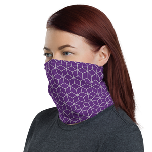 Diamond Purple Pattern Neck Gaiter Masks by Design Express