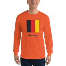 "Orange / S Germany ""Block"" Long Sleeve T-Shirt by Design Express"