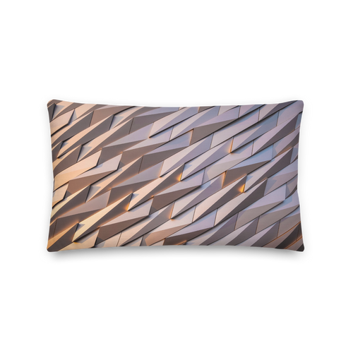 Default Title Abstract Metal Rectangle Premium Pillow by Design Express