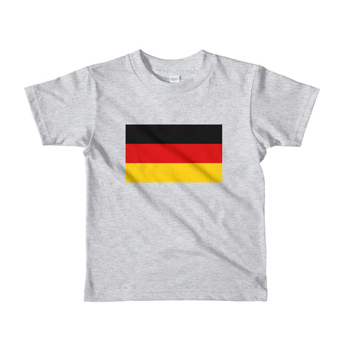 Heather Grey / 2yrs Germany Flag Short sleeve kids t-shirt by Design Express