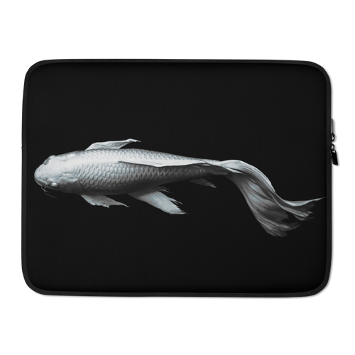 15 in White Koi Fish Laptop Sleeve by Design Express