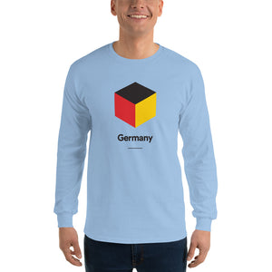"Light Blue / S Germany ""Cubist"" Long Sleeve T-Shirt by Design Express"