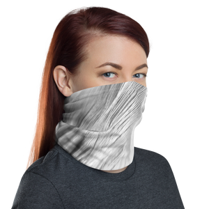 White Feathers Neck Gaiter Masks by Design Express