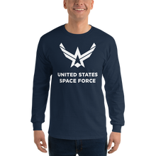 "Navy / S United States Space Force ""Reverse"" Long Sleeve T-Shirt by Design Express"