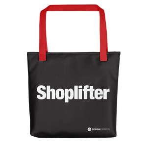 "Red ""Shoplifter"" Tote bag Totes by Design Express"