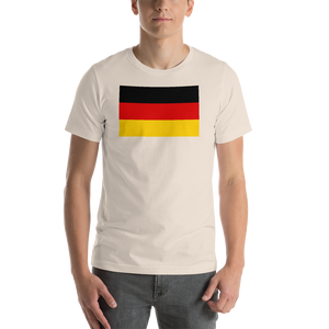 Soft Cream / S Germany Flag Short-Sleeve Unisex T-Shirt by Design Express