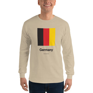 "Sand / S Germany ""Block"" Long Sleeve T-Shirt by Design Express"