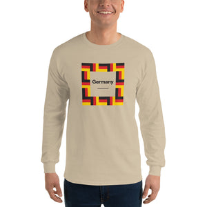 "Sand / S Germany ""Mosaic"" Long Sleeve T-Shirt by Design Express"