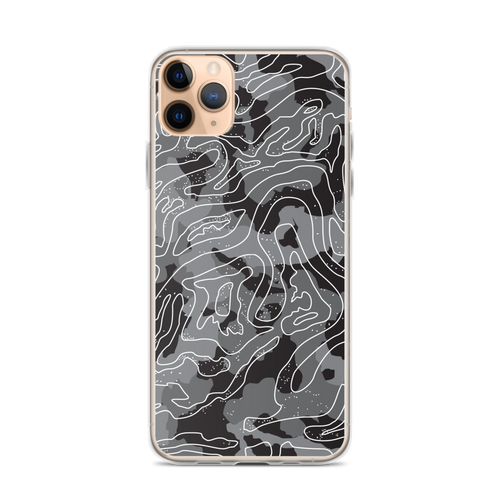 iPhone 11 Pro Max Grey Black Camoline iPhone Case by Design Express
