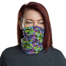 Default Title Green Blue Violet 2 Camo Neck Gaiter Masks by Design Express
