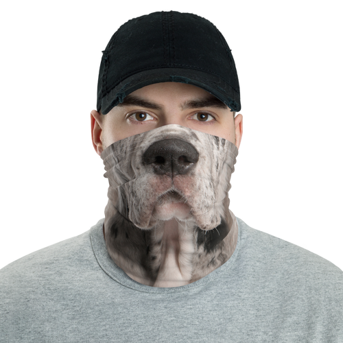 Default Title Great Dane Dog Neck Gaiter Masks by Design Express