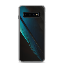 Samsung Galaxy S10 Blue Black Feather Samsung Case by Design Express