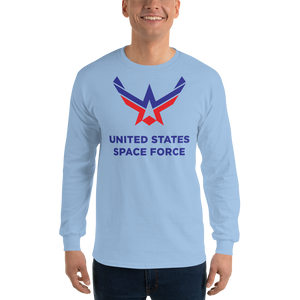 Light Blue / S United States Space Force Long Sleeve T-Shirt by Design Express