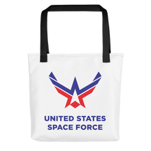 Black United States Space Force Tote bag Totes by Design Express