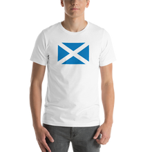 "White / S Scotland Flag ""Solo"" Short-Sleeve Unisex T-Shirt by Design Express"
