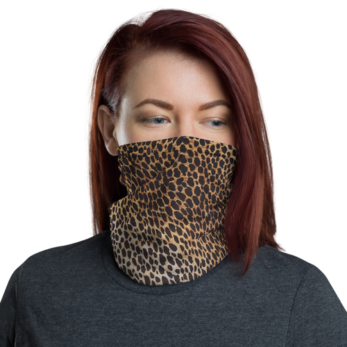Default Title Leopard Brown Pattern Neck Gaiter Masks by Design Express