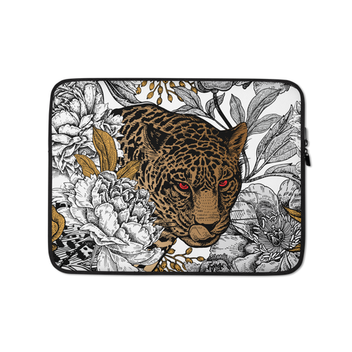 13 in Leopard Head Laptop Sleeve by Design Express