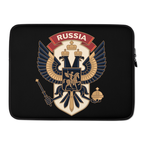 15 in USA Russia Laptop Sleeve by Design Express