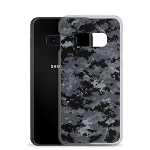 Dark Grey Digital Camouflage Print Samsung Case by Design Express