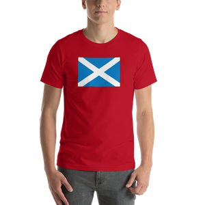 "Red / S Scotland Flag ""Solo"" Short-Sleeve Unisex T-Shirt by Design Express"