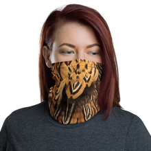 Default Title Brown Pheasant Feathers Neck Gaiter Masks by Design Express