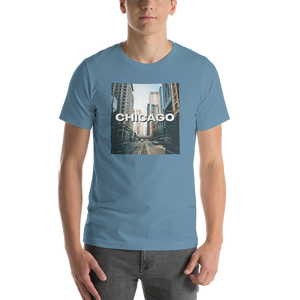 Steel Blue / S Chicago Unisex T-Shirt by Design Express