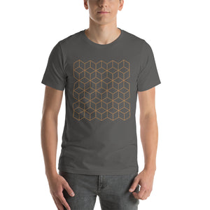 Asphalt / S Diamonds Patterns Short-Sleeve Unisex T-Shirt by Design Express