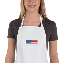 "United States Flag ""Solo"" Embroidered Apron"
