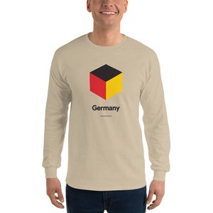 "Sand / S Germany ""Cubist"" Long Sleeve T-Shirt by Design Express"