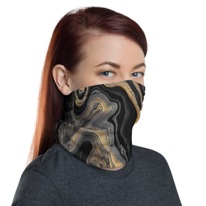 Black Marble Neck Gaiter Masks by Design Express